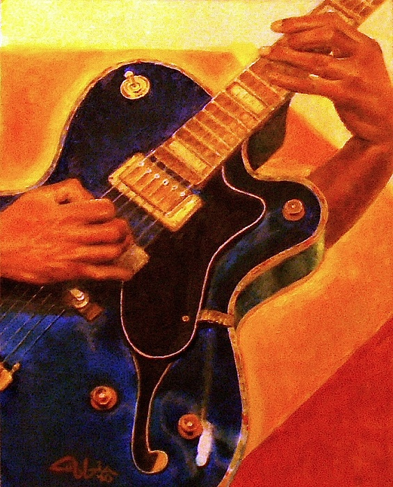 Guitars Painting - Fusion Chord Chemistry by G Cuffia