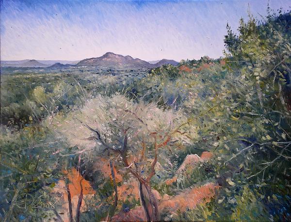 Impressionism Painting - Gaberone Botswana 2008  by Enver Larney