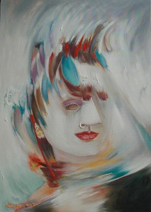 Expressionism Mixed Media - Gadis by Wisnu Pelukis