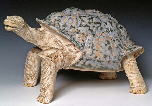 Animal Sculpture Sculpture - Galapagos Tortoise by Patrick Johnson