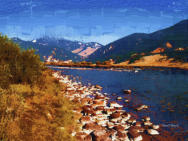 Diane Berry Painting - Gallatin River Dreams by Diane E Berry