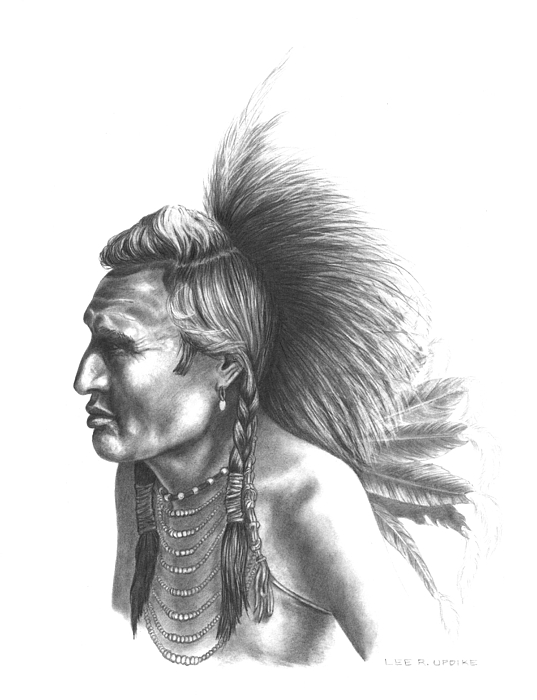 Blackfoot Drawing - Gambler by Lee Updike