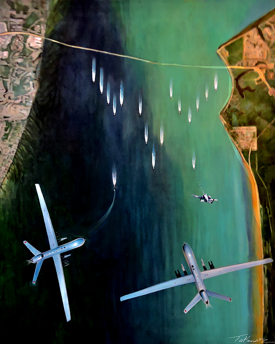 Drones Painting - Gangplank by Todd Krasovetz