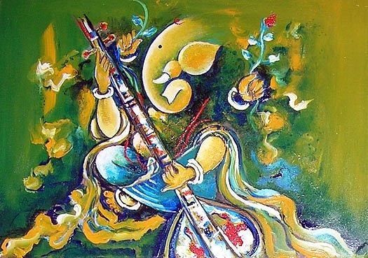 God Painting - Ganpati Bappa by Swati Tewari
