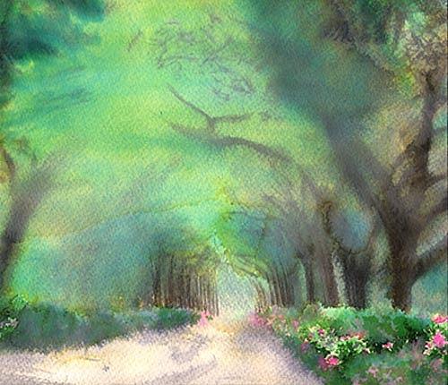 Kid Painting - Garden by Fabio Segatori