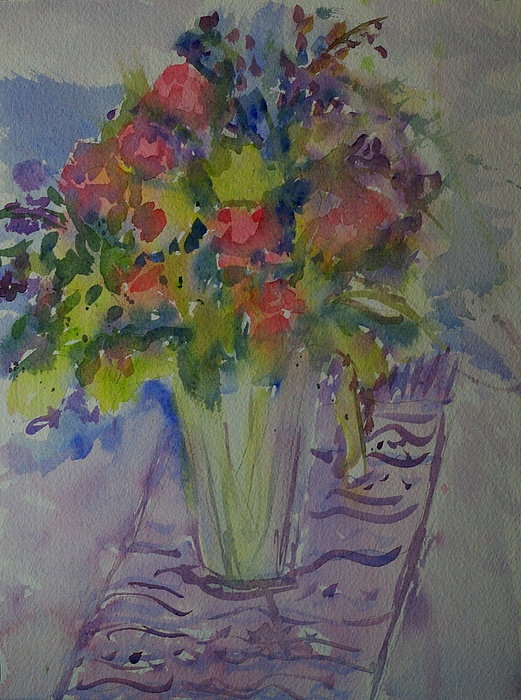 Flowers Painting - Garden Flowers by Liliana Andrei
