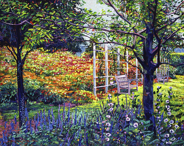 Gardens Painting - Garden For Dreaming by David Lloyd Glover