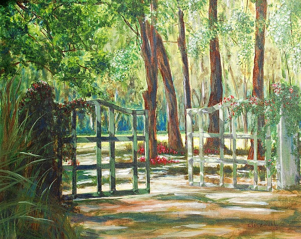 Gate Painting - Garden Gate by Beth Maddox