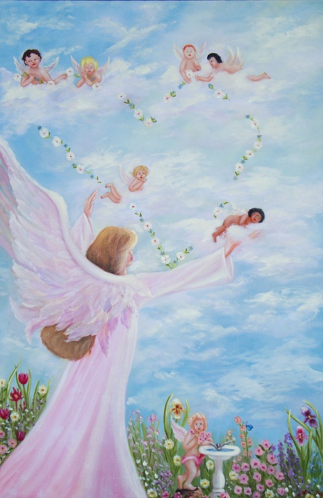 Angels Painting - Garden Of Angels by Joni McPherson