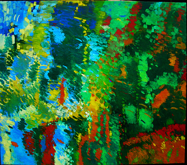 Nature Painting - Garden Of Possibilities by Lorna Ritz