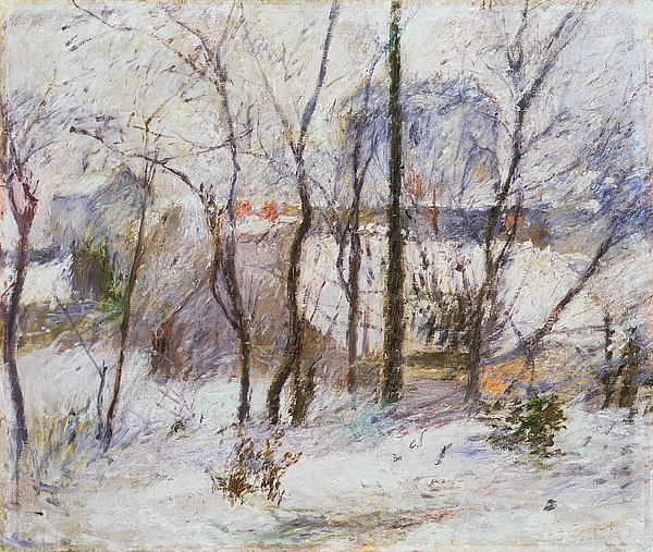 Snow Painting - Garden Under Snow by Paul Gauguin
