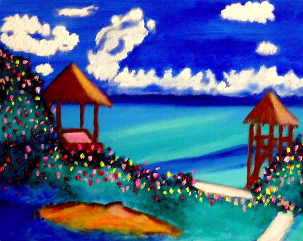 Garrafon Isla Mujeres Painting by Ted Hebbler