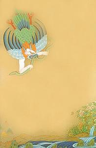 Buddhism Painting - Garuda by Terris Temple