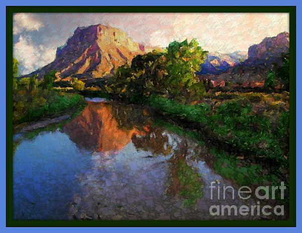Gateway Colorado Mesa By River Digital Art by Annie Gibbons
