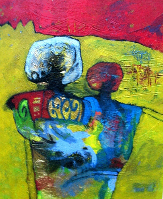 Abstract Painting - Gather   by Islam Kamil