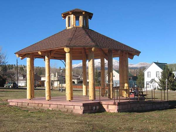 Gazebo At Fairplay Colorado Sculpture by Chaz  Della Porta