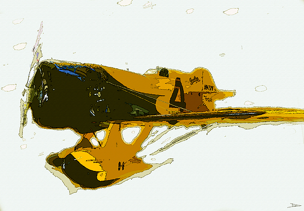 Abstract Painting - Gee Bee Model Z by David Lee Thompson
