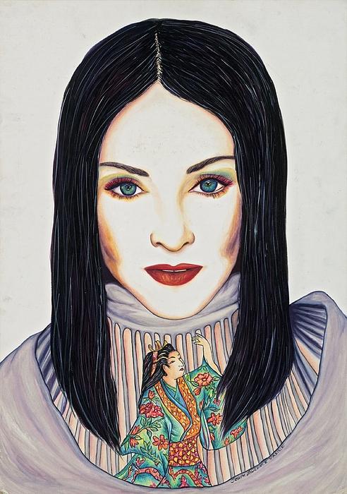 Artist Mixed Media - Geisha Walls by Joseph Lawrence Vasile