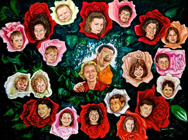 Genealogical Tree Painting - Genealogical Rosebush by Aymeric NOA