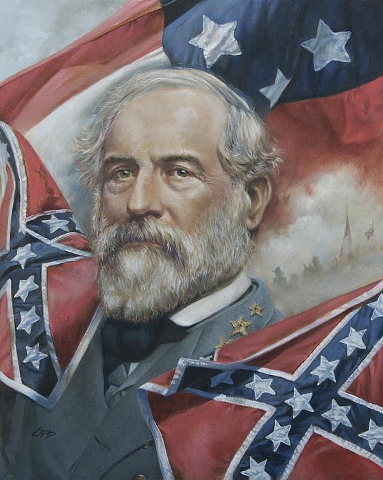 General Lee Painting - General Robert E Lee by Linda Eades Blackburn