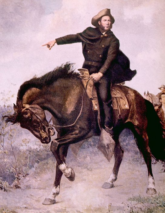 History Photograph - General Sam Houston At The Battle by Everett