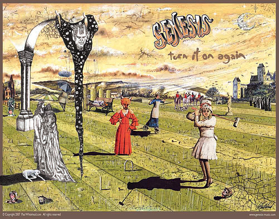 Genesis Digital Art - Genesis - Turn It On Again 2007 Tour by Paul Whitehead