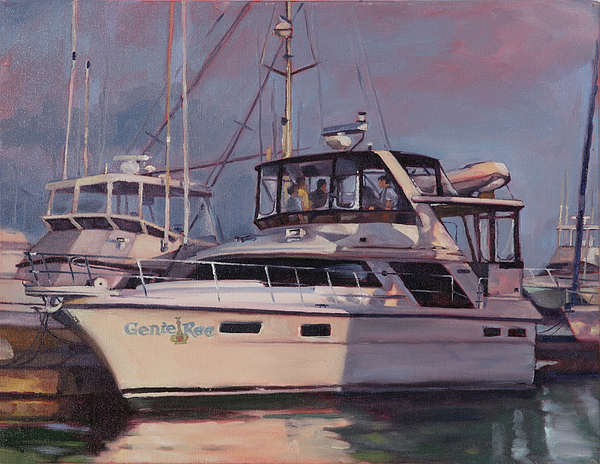 Harbor Painting - Genie Ree by Todd Baxter