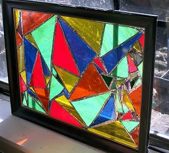 Geometric Glass Art by Amanda  Sanford