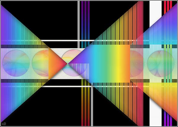 Geometric Digital Art - Geometrically Speaking by Sue Gardiner