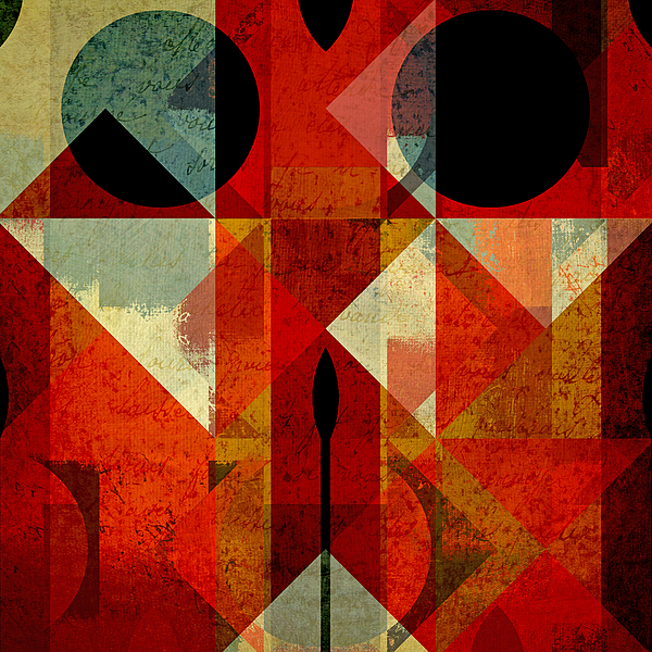 Abstract Digital Art - Geomix-04 - 39c3at22g by Variance Collections