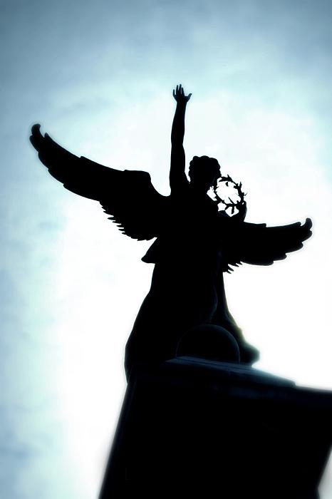 Angel Photograph - Georges-etienne Cartier Monument by Lisa Knechtel