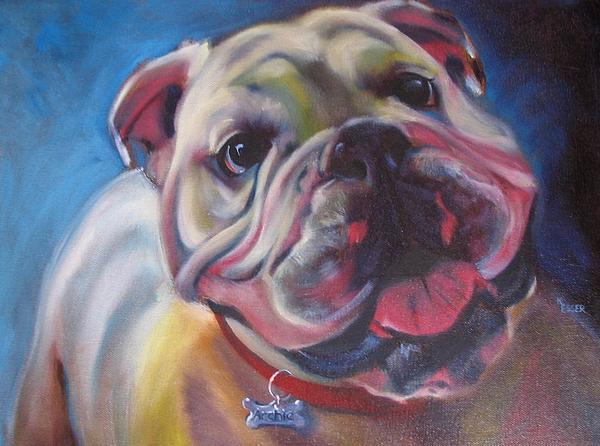 Bulldog Painting - Georgia Bulldog by Kaytee Esser