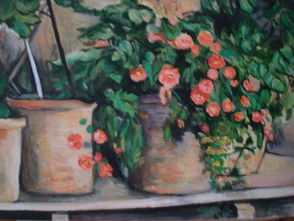 Flowers Painting - Geranium by Marcella Jackson