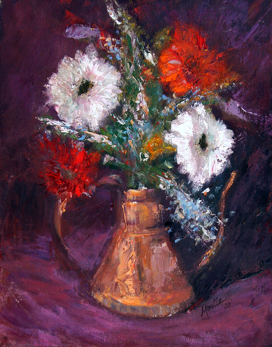 Gerber Daisy Painting - Gerbers by Athena Mantle