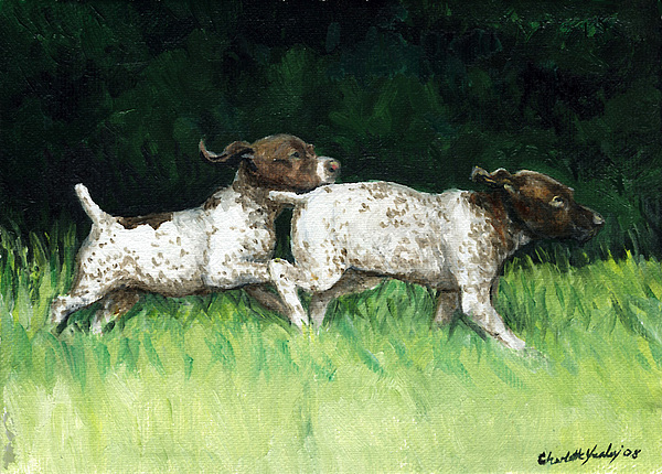 Dog Painting - German Shorthaired Pointer Pups by Charlotte Yealey
