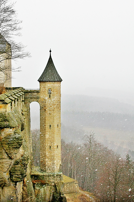 Fortresses Photograph - Germany - Elbtal From Festung Koenigstein by Christine Till