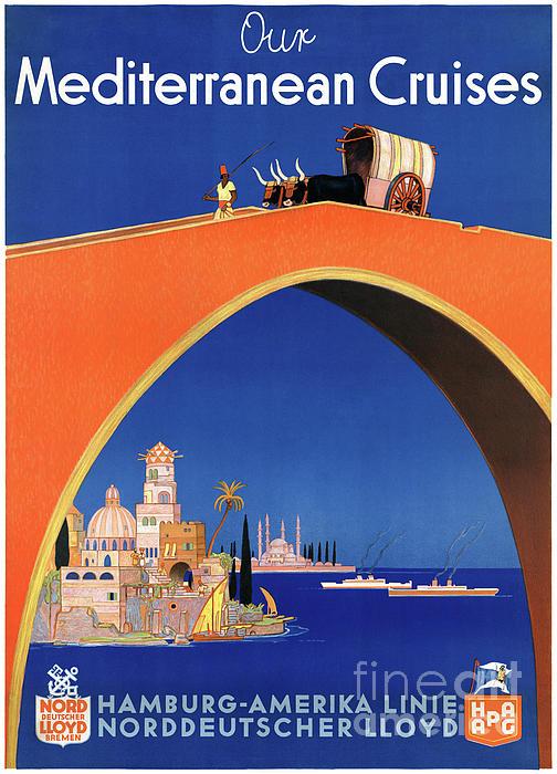 Germany Mixed Media - Germany Hamburg Vintage Travel Poster Restored by Carsten Reisinger