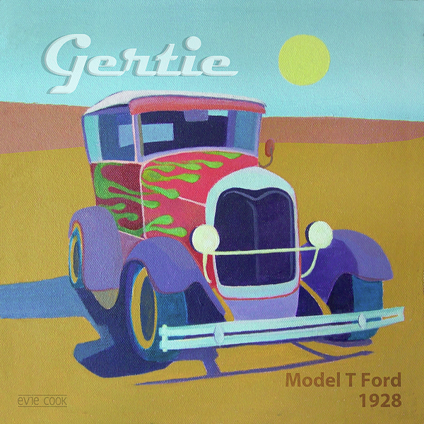 Ford Digital Art - Gertie Model T by Evie Cook
