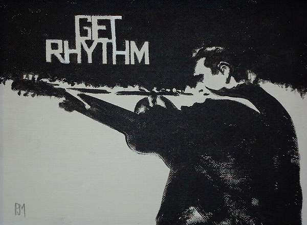 Johnny Cash Painting - Get Rhythm by Pete Maier