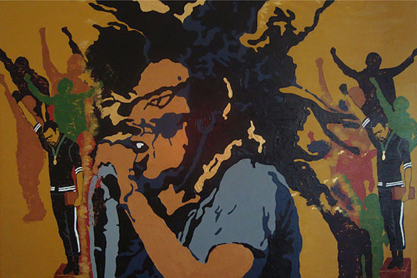 Bob Marley Painting - Get Up Stand Up by Rachel Natalie Rawlins