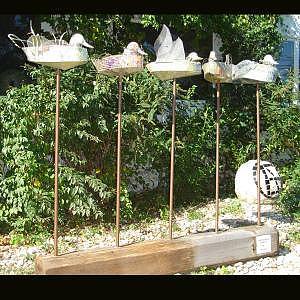 Ducks Sculpture - Get Your Ducks In A Row by Ellen Nora Goldstein
