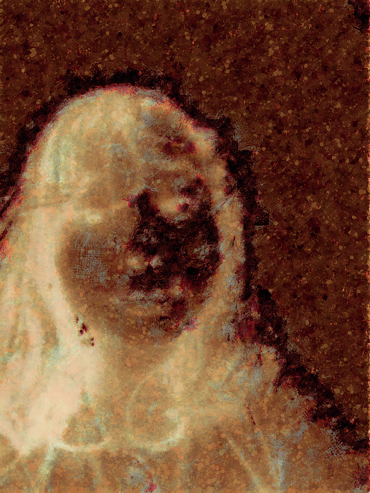 Photo Booth Digital Art - Ghost Girl by J Riley Johnson