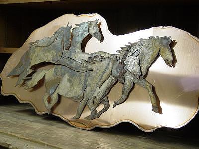 Steel Sculpture - Ghost-herd Sold by Steve Mudge