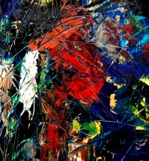 Abstract Painting - Ghost Of Us II by Fareeha Khawaja