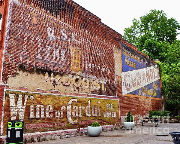 Ghost Signs Photograph - Ghost Signs In Radford Virginia by Kerri Farley