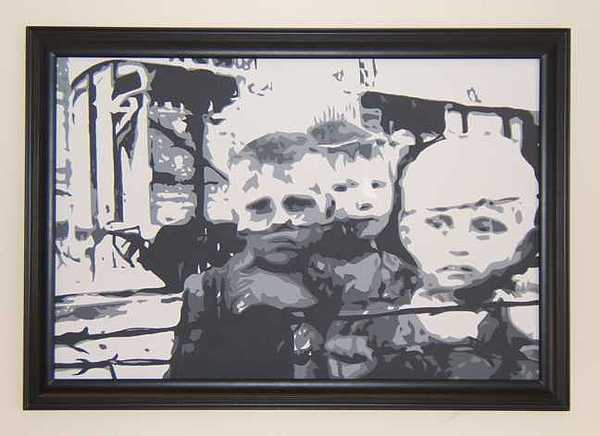 War Painting - Ghosts Of The Warsaw Ghetto II by Michael James Toomy