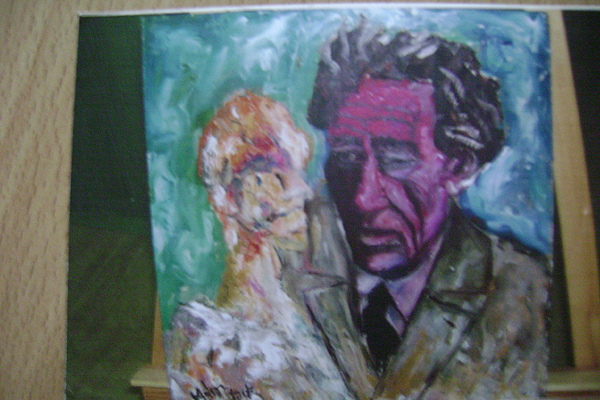 People Painting - Giacometti by Metin Yasarturk