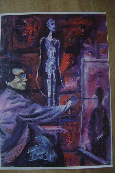 People Painting - Giacometti Working by Metin Yasarturk