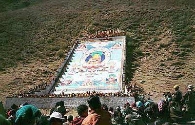 Buddhism Tapestry - Textile - Giant Thangkas-commissions Only by Terris Temple
