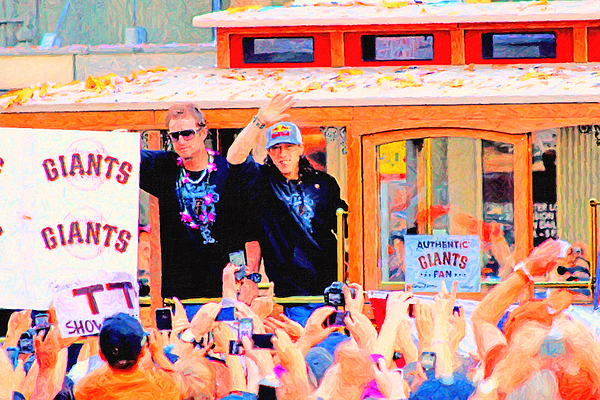 Sport Photograph - Giants 2010 Champions Parade 2 . Photo Artwork by Wingsdomain Art and Photography